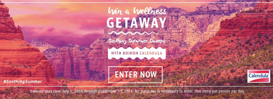 Win a Wellness Getaway - Soothing Summer Sweeps - Enter Now